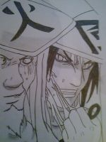 Orochimaru and Sarutobi by AlCoHoLiC111