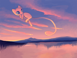 Mew and the Lake by Pace-Eterna