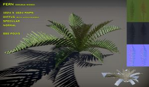 Free Fern Pack V2 by Nobiax