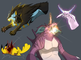 Pokemon TLS: Attack moves and Death tests by blueharuka