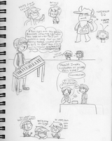 Band Mates Doodles 1 by Sellotape-of-Love