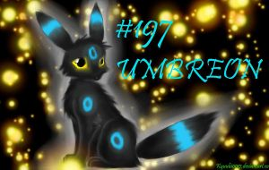 Pokemon no.197 Umbreon by Kyuubi0017