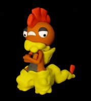 Scrafty Sculpture by caffwin