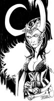 Sketchy: Lady Loki by KidNotorious