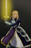 Saber Painting by DStevensArt