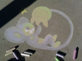 Chalk Aipom by Foureyedalien