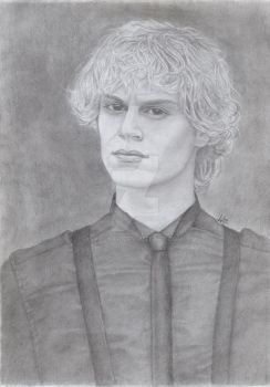 Evan Peters . by valakh