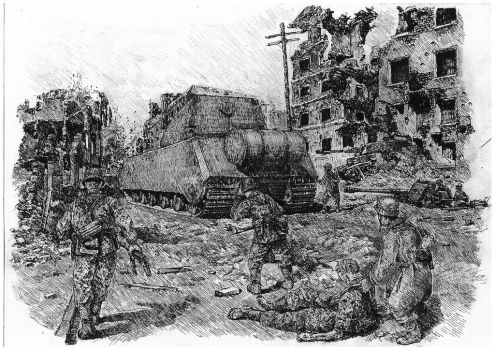 Maus attacking  (Black Ball-Pen Work) by lhlclllx97