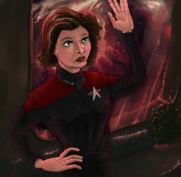 Janeway Telling You Off by TheMI3
