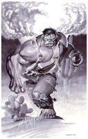 Hulk Origin- Marker Illo by ChristopherStevens