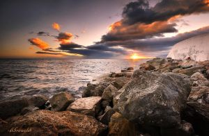 rocks at sunset by hotonpictures