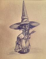 Black Mage Cat by anteateradvance