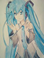 Hatsune Mik by Death-Lighto