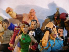 Capcom Vs. Marvel Pre-fight photo op by SurfTiki