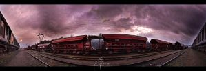 Industry Rails Panorama by MD-Arts