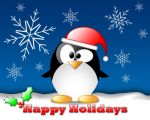 Happy Holidays Crystal Penguin by nowhereman2k3