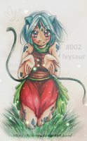 Pokemon Gijinka 002 Ivysaur. by oOMyuOo