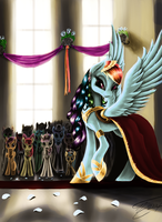 Lady of the Rainbow by GhostDragonSpirit