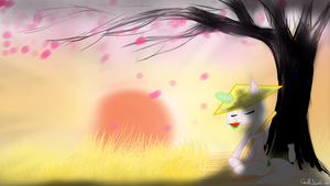 A leaf In the Wind by candlesnax