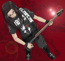 Ein playing bass color by GaMu-ChAn