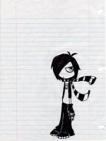 Human disguise emo Zim by SicknessDoll