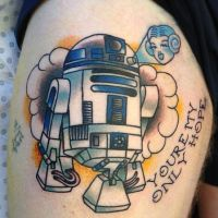 R2D2 Tattoo by gooneytoonstattoo
