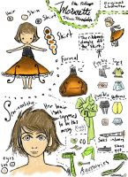 Miss Mandolin Reference Sheet by littlebookie