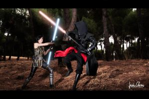 Satele Shan vs Sith Pureblood by Nebulaluben