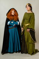 Merida and Elenor by SaaraZ