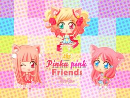 Pinku pink friends by Atsuky