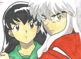 Inuyasha and Kagome by animefreak4real