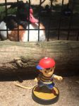 Ness Amiibo and a Duck by Busgirl333
