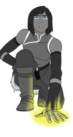 Book 4 Korra (Black and White) by SerenatheArtist