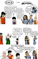 Z-Fighters and Team Avatar by HoneyDove