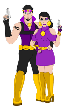 Mr. Tox and Mrs. Tox by CrazyFunPunk