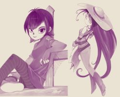 Mavis and Marceline by bleedman