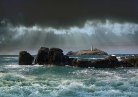 GODREVY LIGHTHOUSE by TADBEER