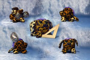 Series toys  spotty leopards dogs by InferaDragon