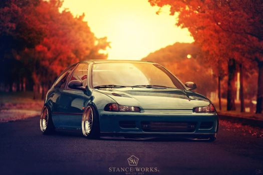Stanced Honda Civic by Sk1zzo