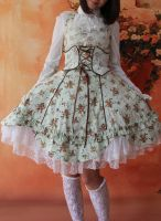 Infanta Halter Wrapping Tape Lolita Dress by miccostumes