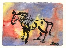 Horse by Tipi