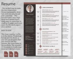 creative resume updated in psd doc docx pdf by bitifa