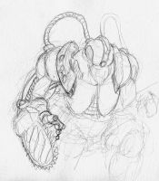 Daily Sketch 4: Power Armor by The-BenT-One