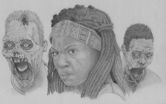 Michonne walking dead by Gladis79
