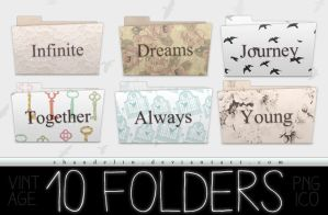 Vintage - Folders by Ihavethedreamersdise