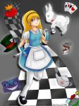 Alice and the White Rabbit by KawaChou