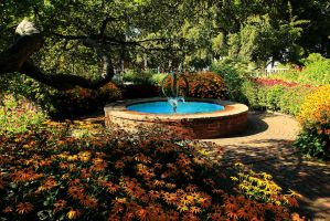 Stock: Fountain Flower Garden by Celem