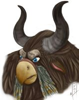 Tauren Moonkin bust by MagicalMelonBall
