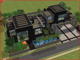 Sims 2 modern dream house by RamboRocky