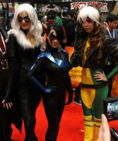 Black Cat, Nightwing, and Rogue - NYCC 2012 by SpideyVille